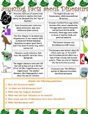 english teaching worksheets dinosaurs. Black Bedroom Furniture Sets. Home Design Ideas