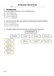 English Worksheets: Analysing a social issue