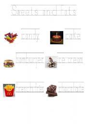 English Worksheet: Food pyramid sweets and fats