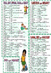 English Worksheet: CONFUSING WORDS EXERCISES practicing.