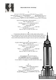 English Worksheet: Empire State of Mind - Alicia Keys