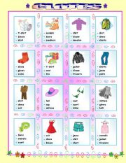 Clothes- multiple choice- with exercise