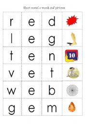 English teaching worksheets: CVC words