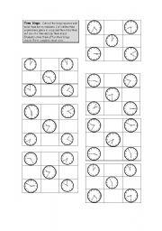 English Worksheet: Time bingo