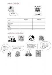 English Worksheets: Mindy and Mandy