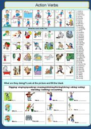 English Worksheets: Actions/ Verbs