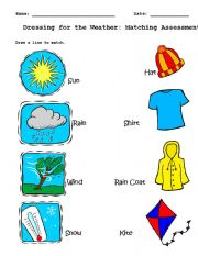 Vocabulary worksheets > Clothes > Clothing Matching