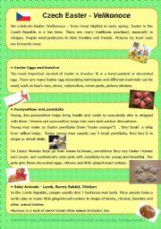 English Worksheet: Czech Easter
