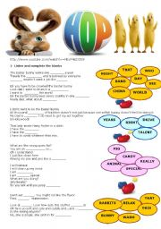 English Worksheets: Hop