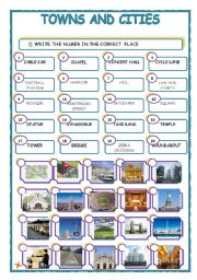 english worksheets towns and cities. Black Bedroom Furniture Sets. Home Design Ideas