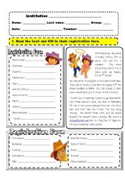 English Worksheet: Personal Information