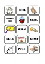 Cooking Verbs Memory Game (Part1)