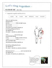 English Worksheet: song: stand by me