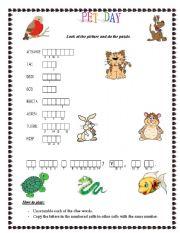 English Worksheets: Pet day