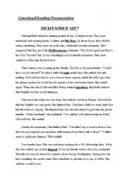 English Worksheets: remember me