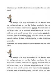 English Worksheet: Text for teaching Adverbs of manner