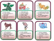 English Worksheets: comprehension cards - animals