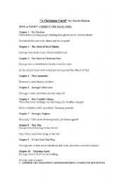 English teaching worksheets: Christmas Carols