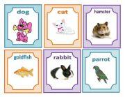 English Worksheets: flashcards pets