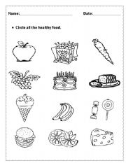 home food worksheets healthy unhealthy food
