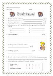 Book report handouts