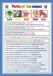 English Worksheets: Verbs of the senses