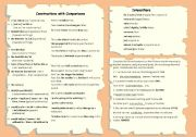 English worksheet: COMPARATIVE STRUCTURES