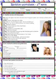 English Worksheet: 6th grade - revision worksheet