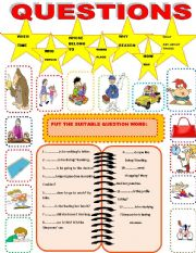 English Worksheets: wh-question words