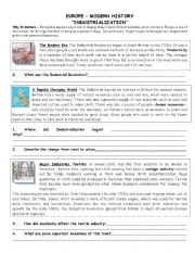 Worksheets Industrial Revolution Worksheets english worksheet industrial revolution reading