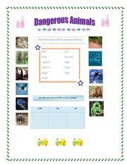 English Worksheets: Dangerous Animals