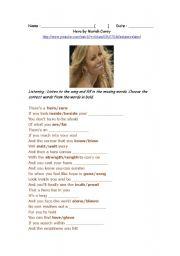 English Worksheet: Mariah Carey