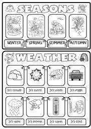 English Worksheet: SEASONS & WEATHER