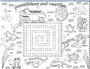 English Worksheet: amphibians and reptiles