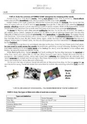 English Worksheet: Forrest Gump Summary and Activities about films