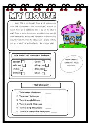 English Worksheets: Reading-comprehension: Elementary 3/3