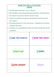 English worksheet: NOW YOU ARE A TEACHER!!!