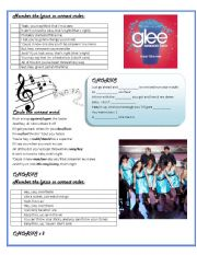 English Worksheet: Loser Like Me from GLEE