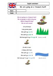 We are going on a bear hunt ESL worksheet by piskisnins