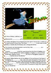 English Worksheet: *** Befana - an italian tradition! ***