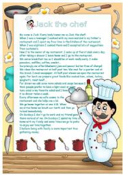 English Worksheets: Jack the chef !