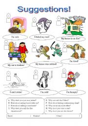 English Worksheet: Suggestions