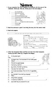 English Worksheet: Shrek 1