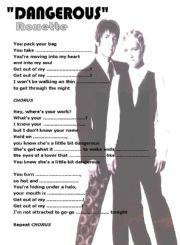 English Worksheet: SONG: