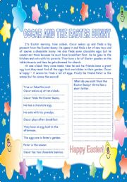 English Worksheet: Oscar and the Easter Bunny