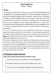 English Worksheet: comprehensive exam 3rd form
