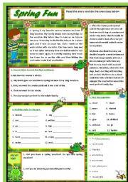 English Worksheet: Spring Fun