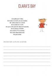 English Worksheets: Clara�s Day