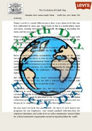 English Worksheet: The Importance of Earth Day