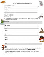 English Worksheets: how to write informational report